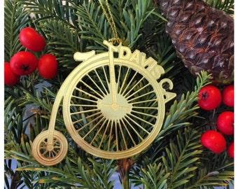Davis, CA Bicycle Ornament - UCD, UC Davis