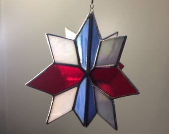 Clear Stained Glass 3D star