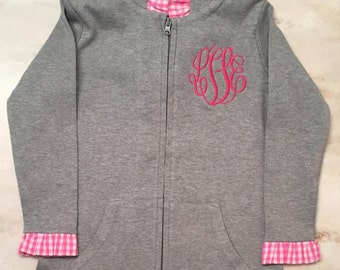 Girls Personalized Jacket,  Girls Clothing, Girls Ruffle Jacket, Girls Monogramed Jacket, Toddler Girls Jacket, Baby Jacket, Baby Hoodie