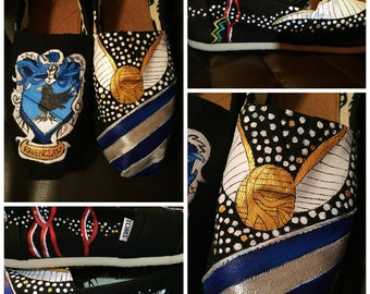Custom Painted Harry Potter/Quidditch/Ravenclaw Toms