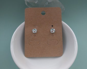 Swarovski crystal studs.