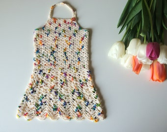 Newborn baby dress, crochet girls dress, cream dresses crochet, cotton dress for newborn, crochet baby dress, baby girl dress crochet