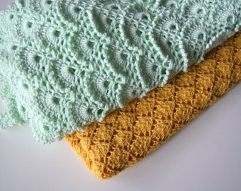 Crochet Baby Blanket, Mint Green Baby Blanket Crochet, Baby Boy Blanket, Baby Girl Blanket, Mint baby Blanket,