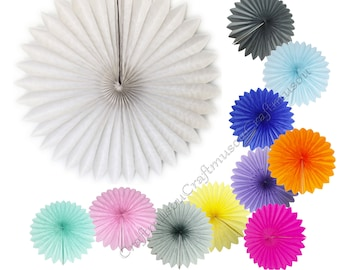 "Bulk 10 piece 14"" Tissue Paper Fan Pinwheels Flower for Wedding Party baby Shower Decoration"