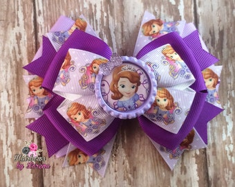 Sofia the First Layered Hairbow