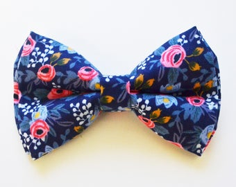 Navy Flower bow ties, boy bow tie, baby bow tie, adult bow tie, men's bow tie,navy bow tie, floral bow tie, wedding bow tie