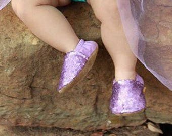 Purple Sequin Shoes