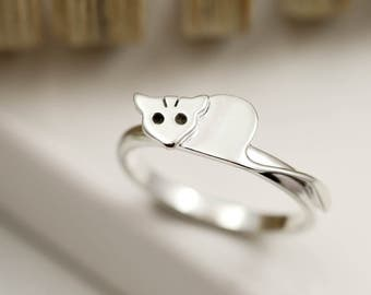 Sterling Silver Sugar Glider Ring with Personalised Engraving Option