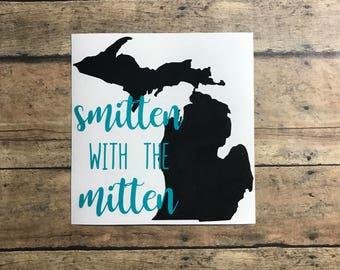 smitten decal / smitten in the mitten / smitten with the mitten / smitten / mitten / michigan