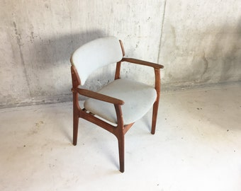 Original Danish 1970's Model 50 oak occasional chair by Erik Buch for O D Mobler