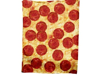 Pepperoni Pizza Blanket