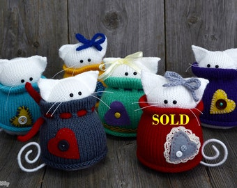 Knitted cats - Kitties  - Home decor