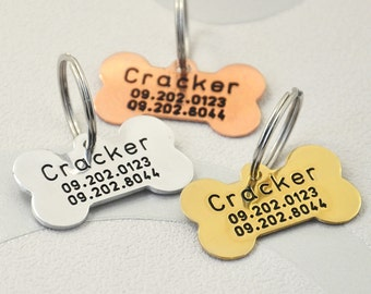Custom Dog Tag, Hand Stamped Dog ID Tags, Personalized ID Engraving Dog Tag