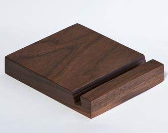 WOOD IPAD STAND Walnut or Lacewood