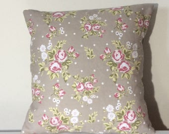 Beige Pillow Cover 16 x 16 Beige Cushion Cover Throw PIllow Toss Pillow Cover - Blossom