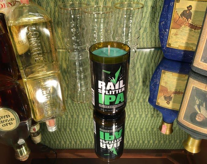 Triton Brewery Rail Splitter bottle Sweet Basil Bergamot candle