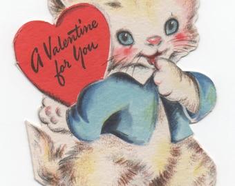 Kitten Valentine, 1947 Unused, great shape