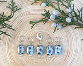 Blue Oil Slick Stitch markers | knitting stitch markers| Knitting Accessory | Knit Notions