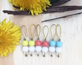 Beach Ball Stitch markers | knitting stitch markers| knitting Accessory | Knitting Notions