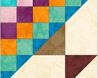 Steps to the Alter 15 Inch Block Paper Template Quick Quilting Block Pattern PDF