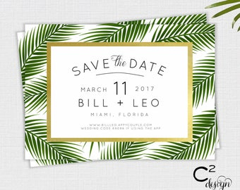 Palm & Gold Save the Date