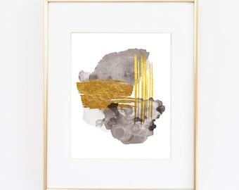 Abstract Printable Art   Watercolor Printable Art   Modern Art   Glam Art   Glam Decor   Gold Abstract Printable   Glam Home Decor  