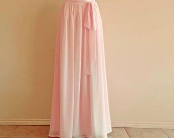 Bridesmaid Skirt. Blush Pink Maxi Skirt