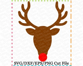 EXCLUSIVE SVG Rudolph Silhouette Reindeer Cutting File, Reindeer cut file, reindeer cutting file, rudoloh svg, LIMITED commercial use