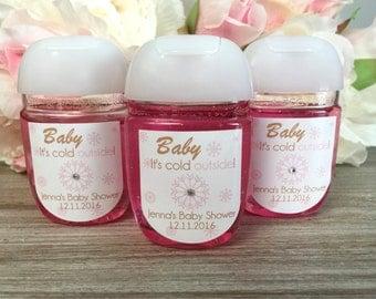 Baby Itu0027s Cold Outside Baby Shower Hand Sanitizer Labels, Winter Baby  Shower Favor Labels,