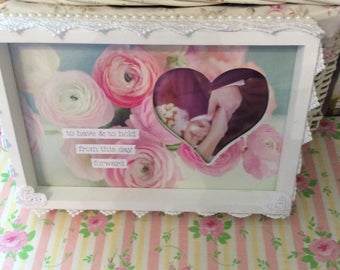 SALE Embellished To Have & To Hold Wedding Frame