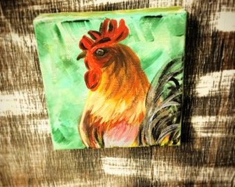 Rooster Kitchen Décor- Rooster Décor- Rooster Painting- Chicken Kitchen Décor- Chicken Décor- Chicken Painting- Chicken Art- Farmhouse Décor