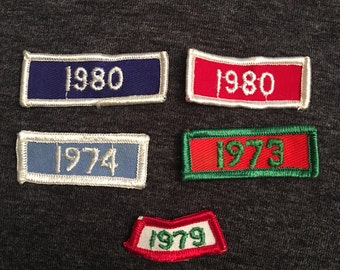 Dated Vintage Patch Lot (5) - 1980 1979 1974 1973