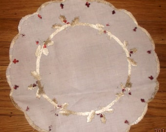 Antique turn of the century Society silk scalloped cloth~
