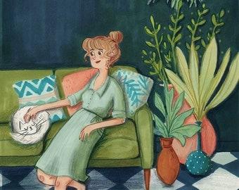 The Green Lady Postcard