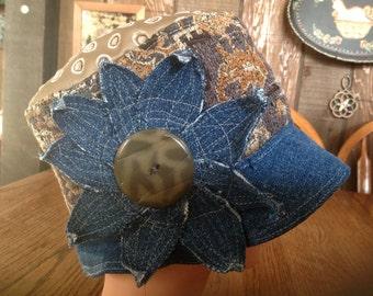 Womens Denim Cloche, Bucket, Fedora Hat