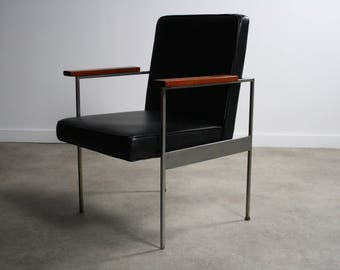 Mid Century George Nelson Office Chair for Herman Miller in Black