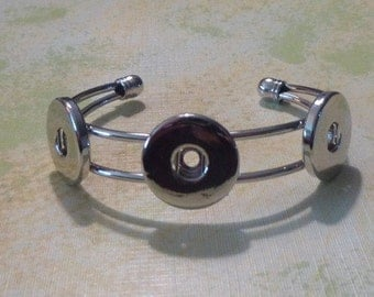 Three Snap Bangle for Snap-It Charms