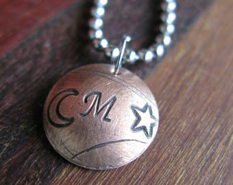 Initial Charm necklace the Letter M