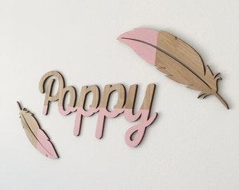 Wooden Feathers (set of 2) | Flatlays | Kids Decor