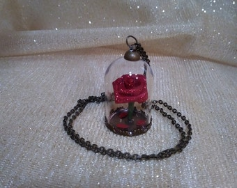 Enchanted Rose charm and necklace