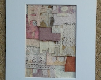 Modern mixed media collage layers...spring
