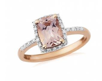 Morganite & Rose Gold Engagement Ring