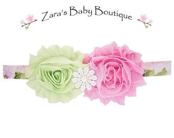 Flower Headband - Tropical Headband - Floral Headband - Pink - Green - Yellow - Baby - Toddler - Girls  Zara Baby