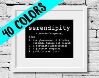 Serendipity Print, Beautiful English Words, Serendipity Definition, Serendipity Quotes, Serendipity Print, Serendipity Meaning Print
