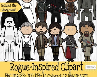 Star Wars Inspired Clipart: Rogue One