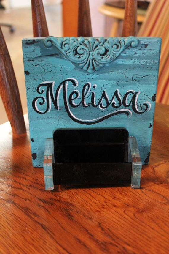 Business card holder personalized business card holder desk like this item colourmoves