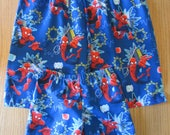 Father and son sleep shorts, his and hers sleep shorts, star wars sleep shorts,batman sleep shorts, spiderman sleep shorts,batman