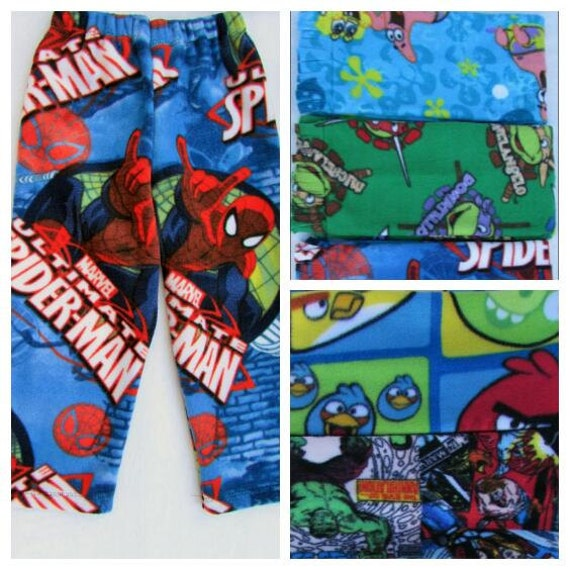 Boys pajamas/fleece pajamas/boys fleece pajamas/spiderman pajamas/ninja turtle pajamas/paw patrol pajamas/sponge bob/gift for boy/boys gift