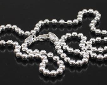 mens silver chain 4mm sterling silver ball chain necklace sterling silver ball chain 16 18