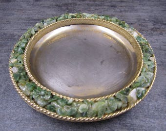 Vintage Jolle Ashtray lined with Jade